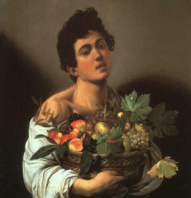 Youth with a Flower Basket