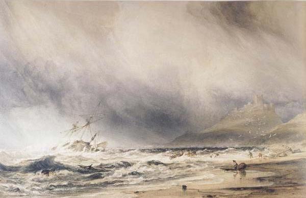 Bamborough Castle,Northumberland Stormy Weather (mk47)