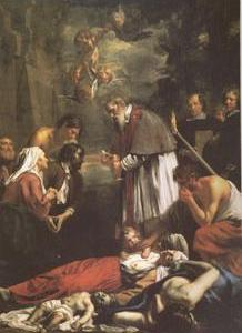 St Macaire of Ghent Tending the Plague-Stricken (mk05)