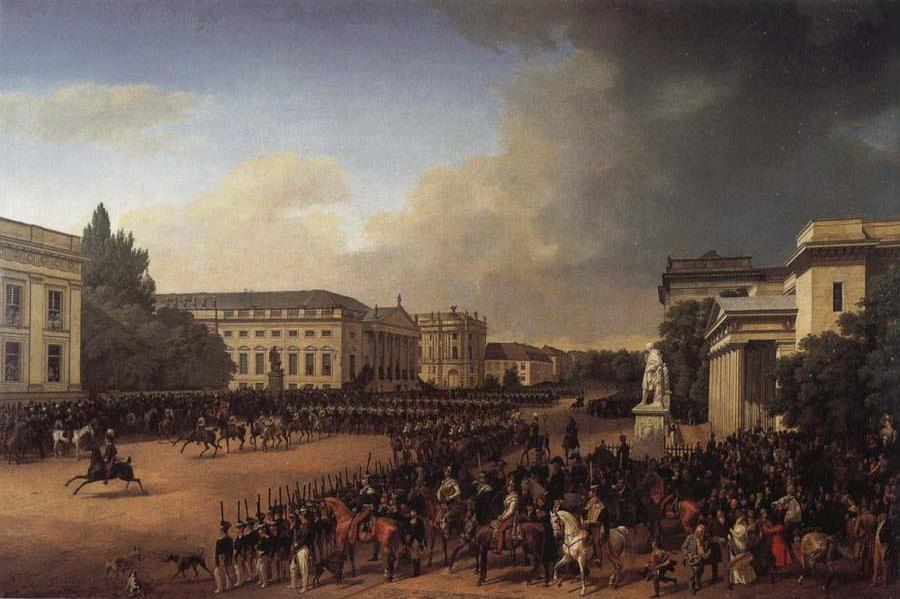 Parade on Opernplatz in 1822
