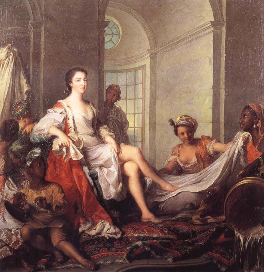 Mademoiselle de Clermont at her Bath,Attended by Slaves