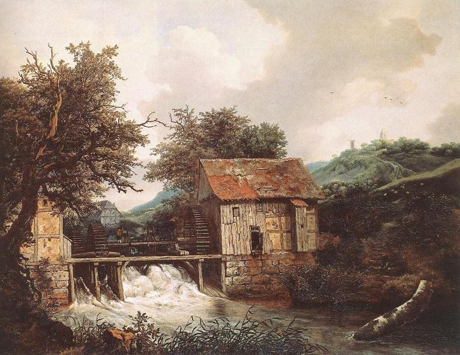 Two Watermills and an Open Sluice near Singraven
