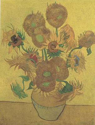 Still life Vase with Fourteen Sunflowers (nn04)