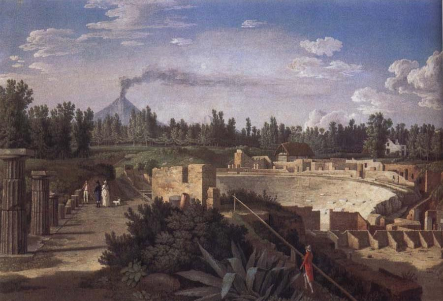 View of the Ruins of the Antique Theatre of Pompei