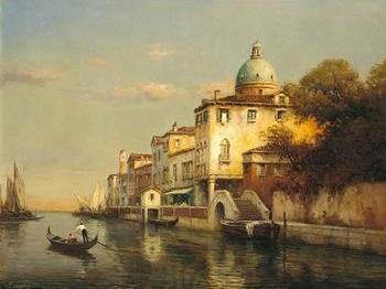 European city street landsacpe by the river