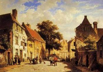 European citystreet landsacpe