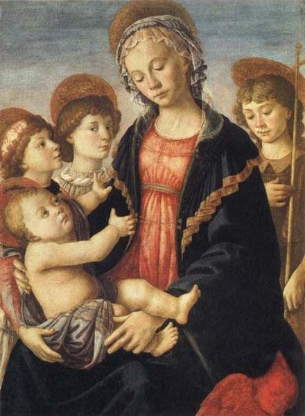 Madonna and Child,with the Young St.John and Two Angels