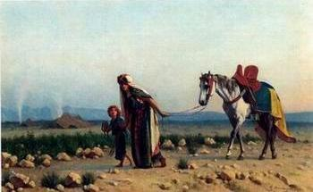 Arab or Arabic people and life. Orientalism oil paintings 116
