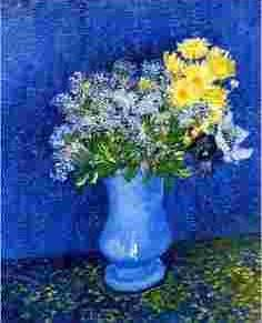 Vase with Lilacs, Daisies & Anemones