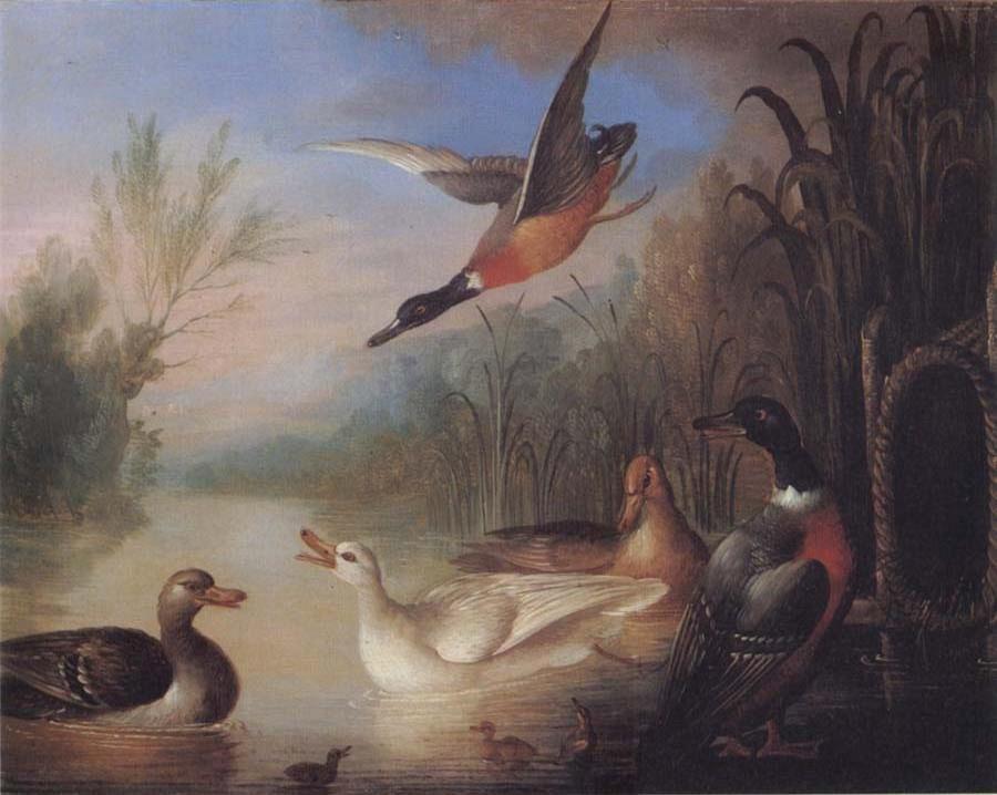 Waterfowl in a Landscape