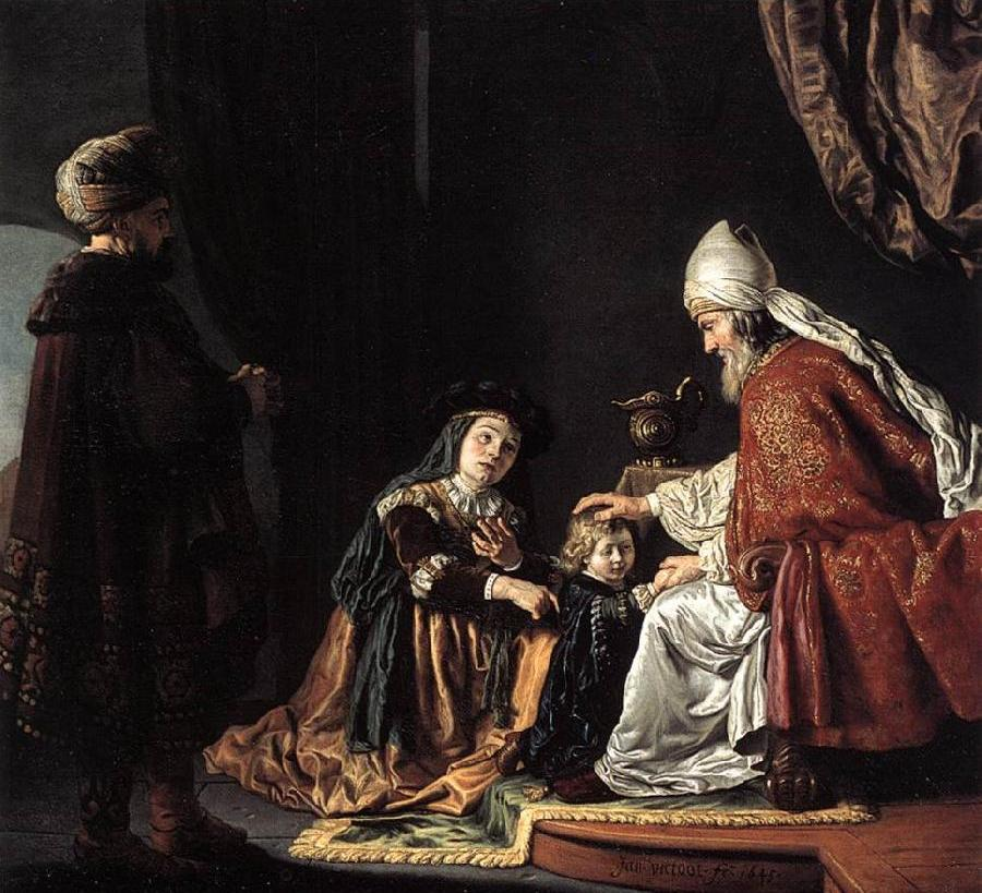 Hannah Giving Her Son Samuel to the Priest ar