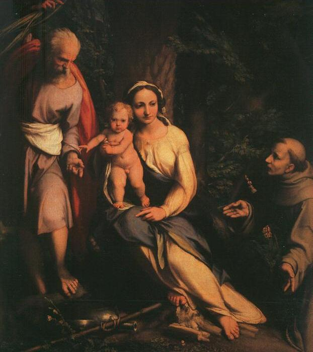 The Rest on the Flight to Egypt with Saint Francis dfb