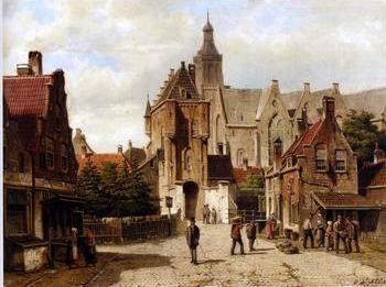 European city landscape, street landsacpe, construction, frontstore, building and architecture.009