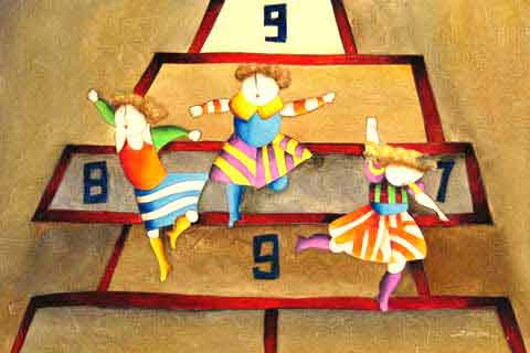 The Children Playing Hopscotch