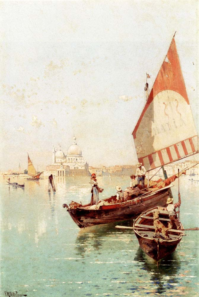 Sailboat In a Venetian Lago