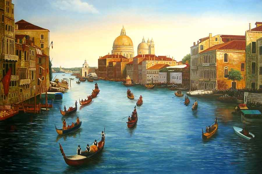 Venice Regatta on Grand Canal