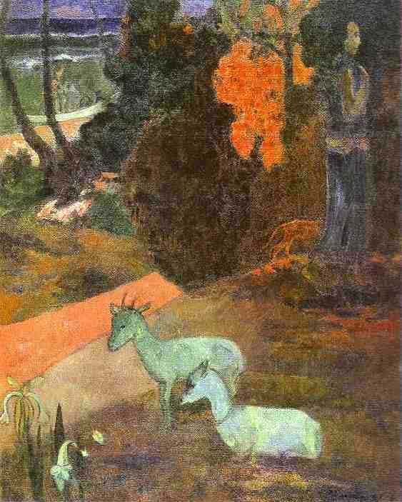 Landscape with Two Goats