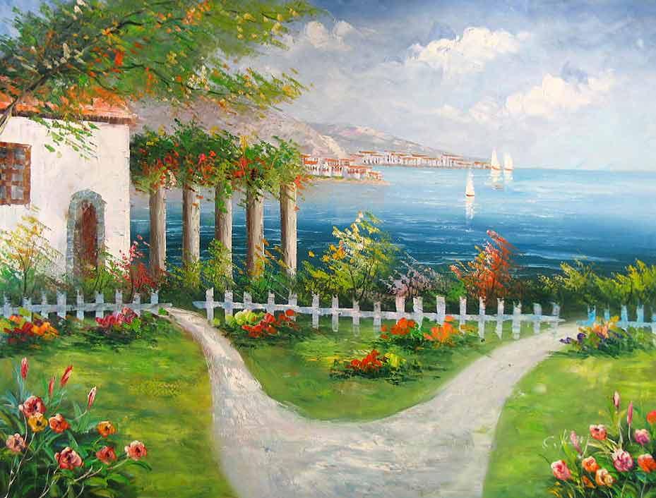 Path by the Mediterranean