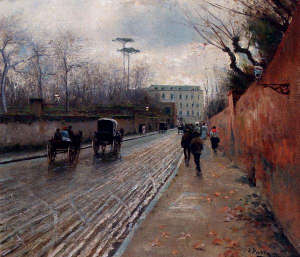 Street Scene In Autumn