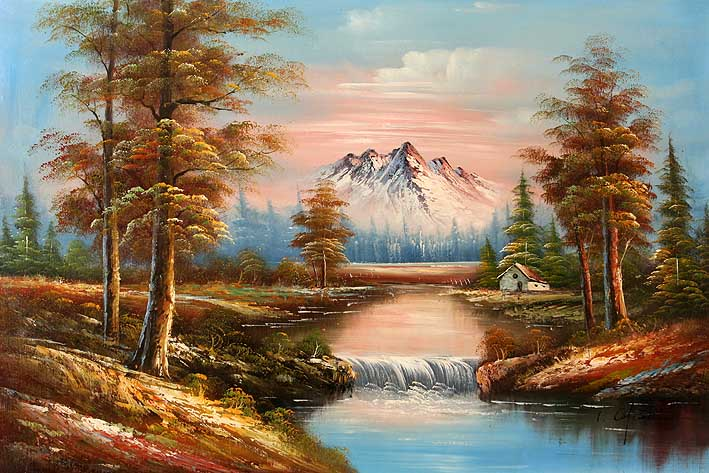 - Classic Mountain Landscape,oil Paintings Online