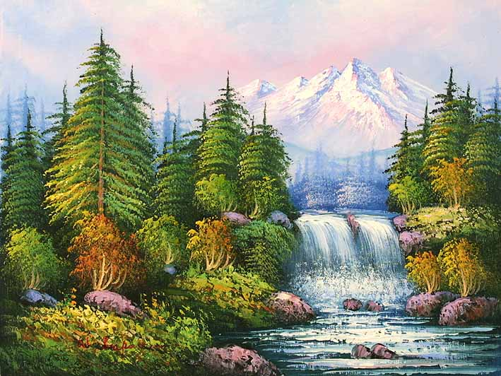 classic mountain landscape oil paintings online
