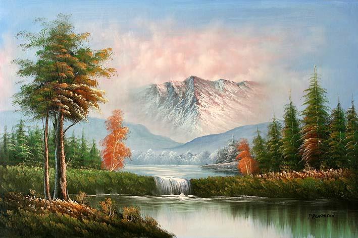 مجموعات لوحات Landscape Classic-mountain-landscape