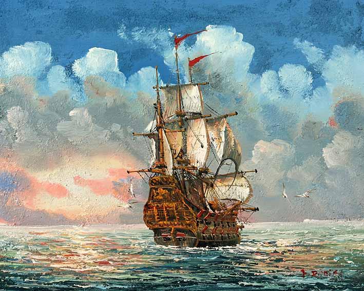Clipper at Sea