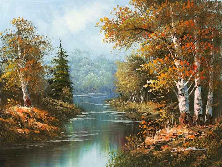 مجموعات لوحات Landscape Forest-pond