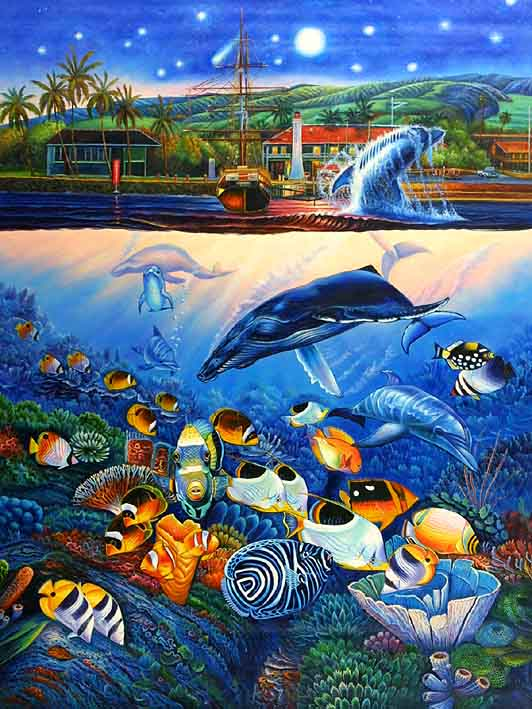 Tropical sea life for Sea life paintings artists