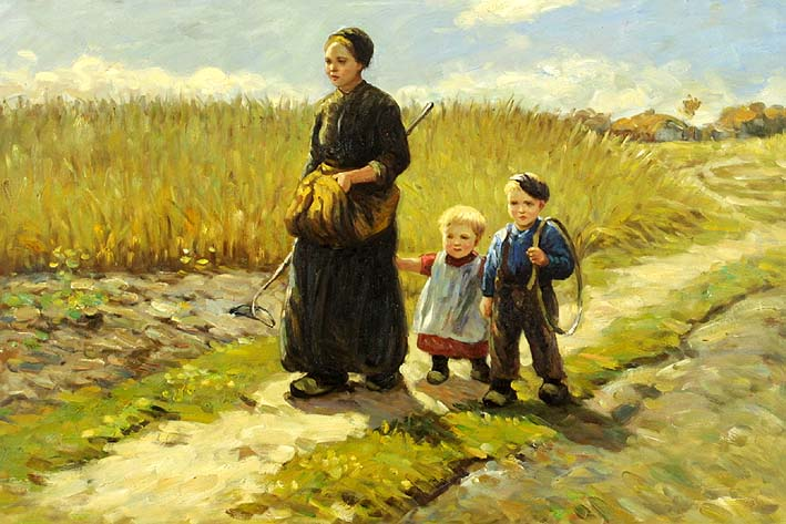 Farm Woman with her Children