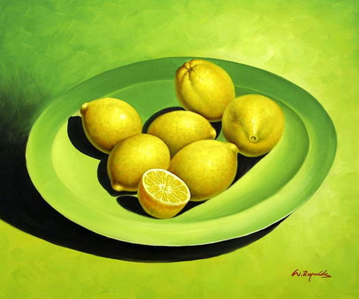 Lemons On A Dish