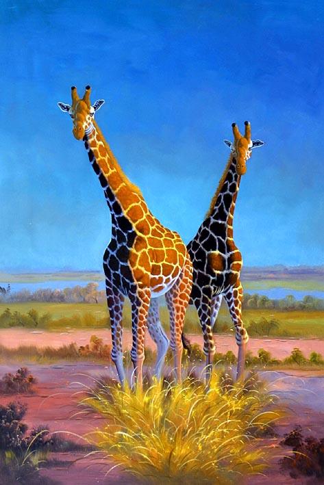 Giraffe Siblings