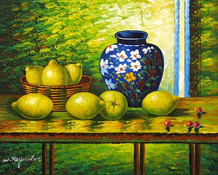 Still Life with Pottery and Lemons