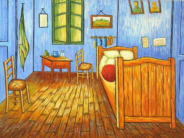 Van Goghs Bedroom in Arles,oil paintings on canvas