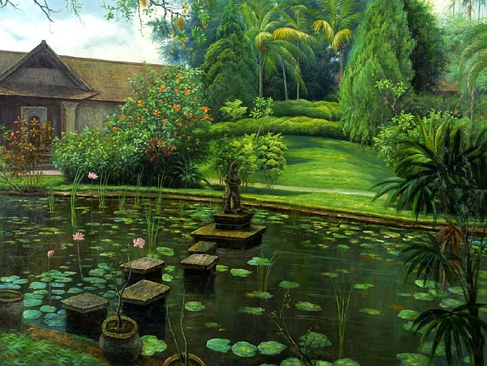 Waterlily-filled Mansion Pond