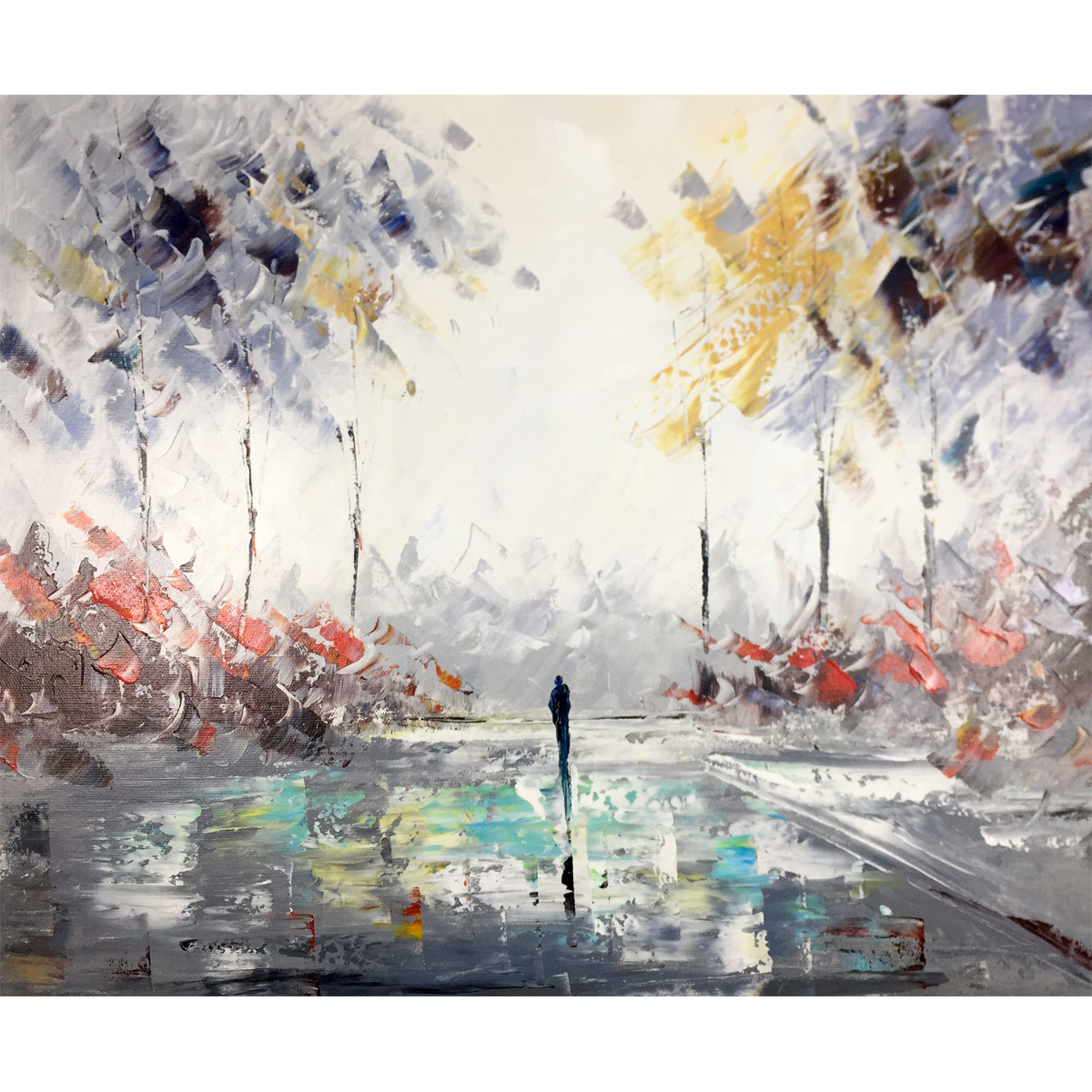 Abstract Landscape Painting On Canvas Hand Painting Oil Paintings Art Colorful Artwork for Living