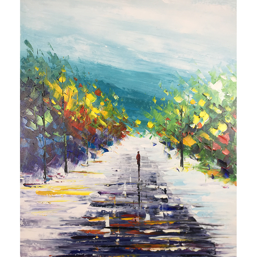 Abstract Painting On Canvas Hand Painted Oil Paintings Landscape Artwork Online Wall Modern Canvas