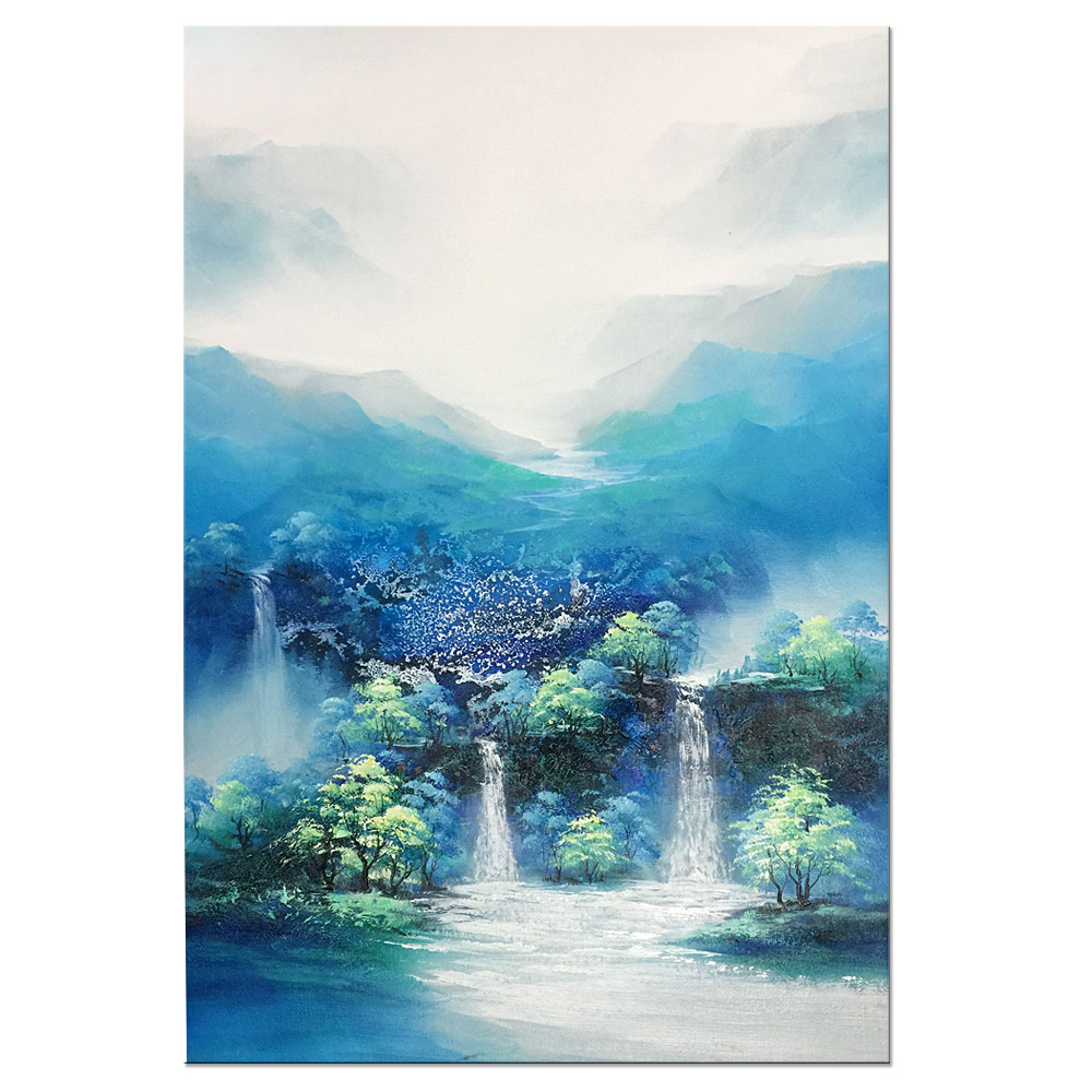 Mountains-and-waters Landscape oil painting 100% Hand-painted on Canvas