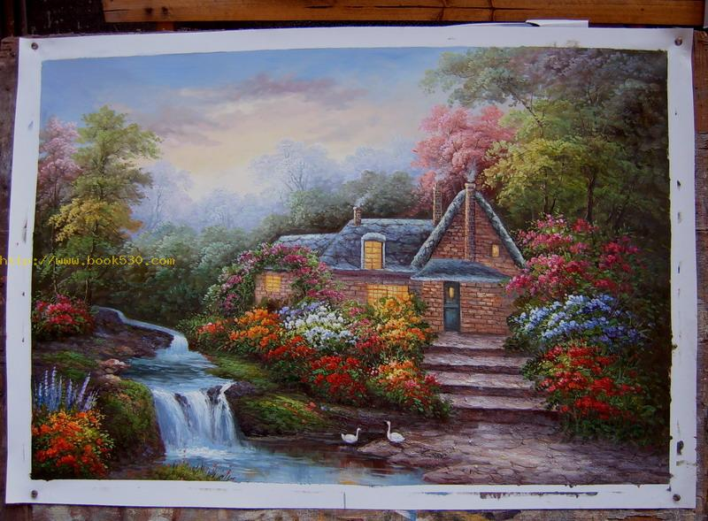 Rural scenery oil painting