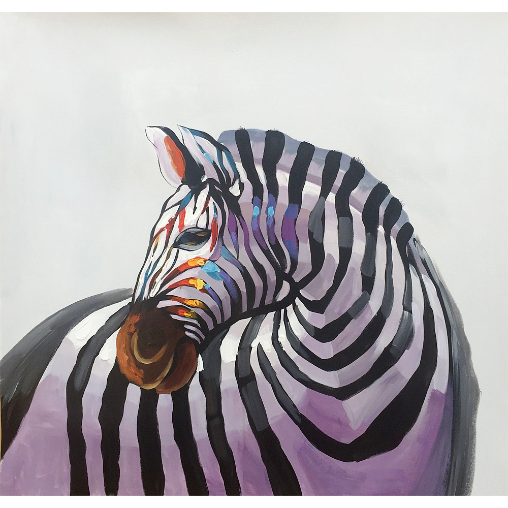 100% Hand painted Original Oil Paintings on Canvas Paint Horse Modern Art Zebra Abstract Artwork
