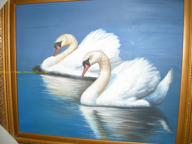 Beautiful swan Oil Painting