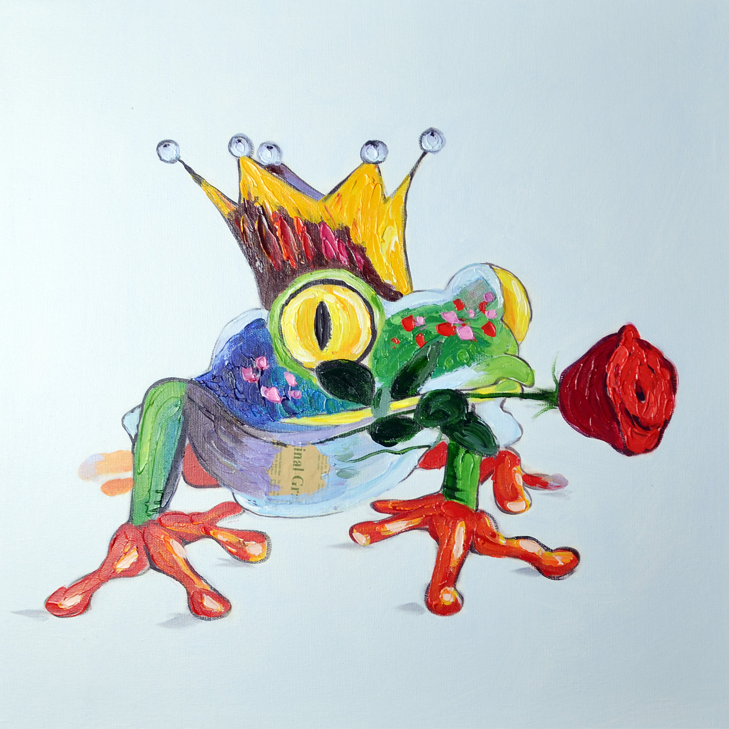 oil paintings Animal The Frog Prince on Canvas