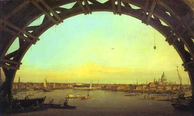 Canaletto London Seen through an Arch of Westminster Bridge