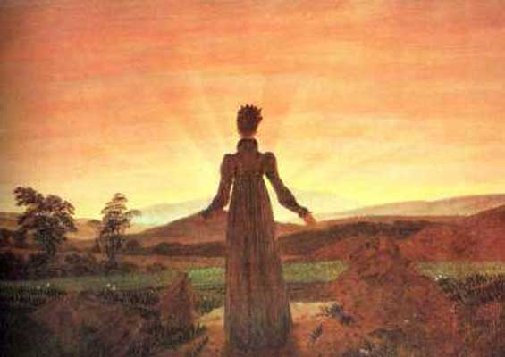 Caspar David Friedrich Woman in front of the Setting