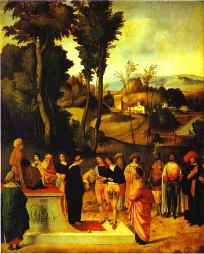 Giorgione Moses Trial by Fire