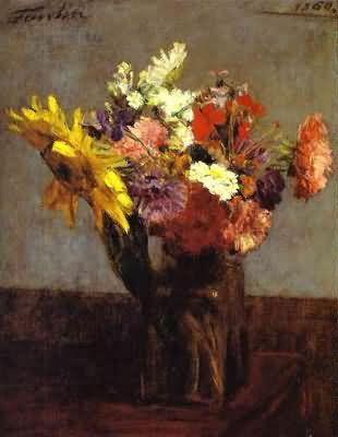 Henri Fantin Latour Bouquet of Flowers Bouquet de fleurs