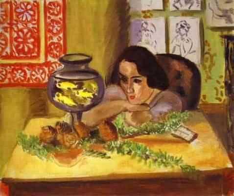 Henri Matisse Woman before Aquarium