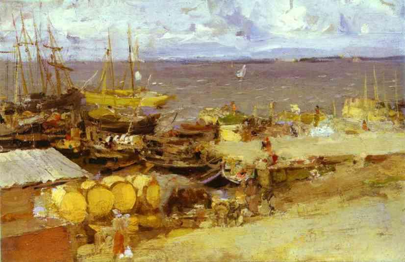 Korovin Constantin Arkhangelsk Port on Dvina