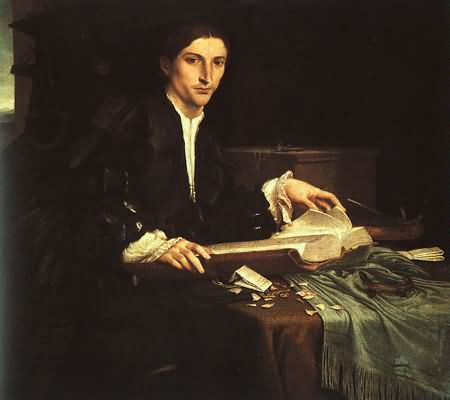 Lorenzo Lotto Young Man in his Study