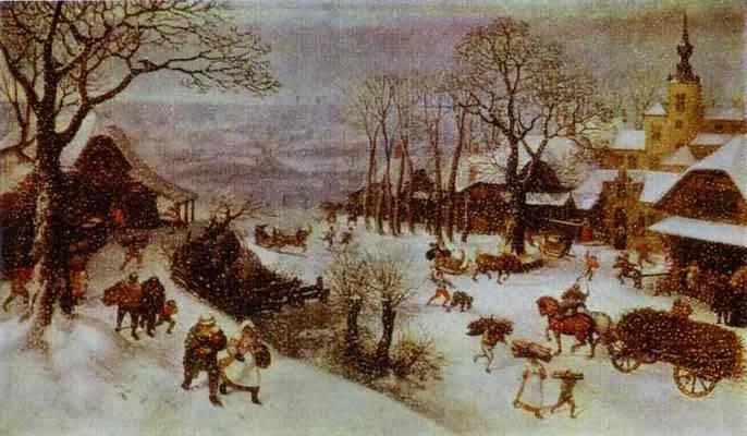 Lucas van Valckenborch Winter Landscape